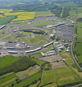 Aerial photograph of Silverstone Park