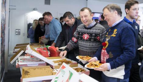 Christmas occupier pizza lunch Dec 2018