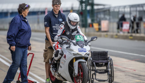 Superbike School tuition advancing Claire Lomas towards TT course target
