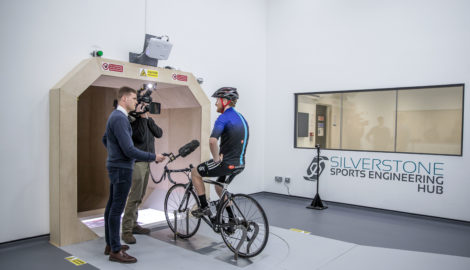 BBC Look East, Silverstone Sports Engineering Hub, Sept 2019