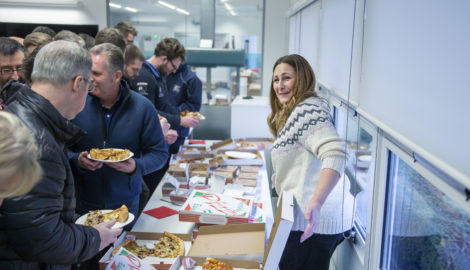 Occupiers' Christmas pizza lunch, December 19