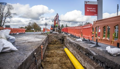 Multi utility trench works, Nov 2019