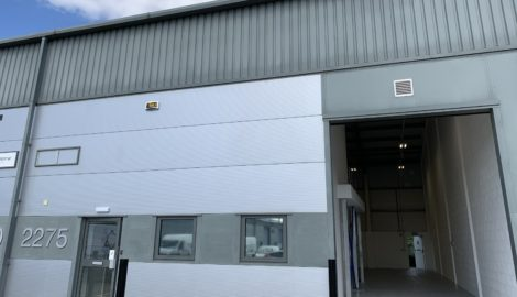 Refurbished double height industrial unit available to let