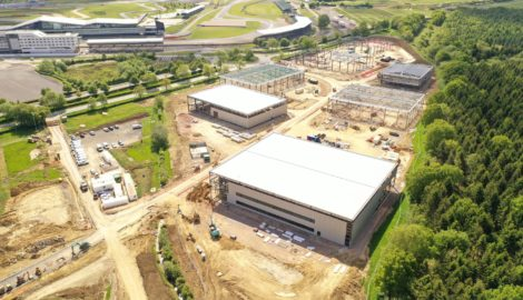 New images & aerial video of MEPC's speculative development in the Enterprise Zone at Silverstone Park