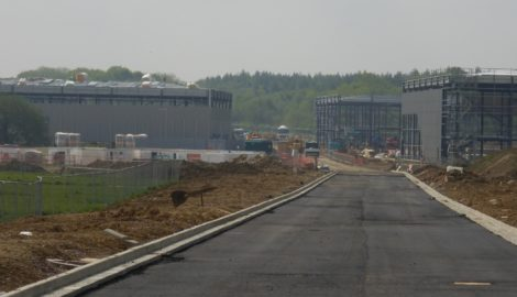 Spine road established in Enterprise Zone at Silverstone Park – visible sign of MEPC's progress