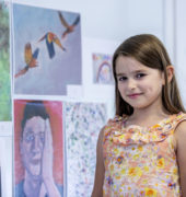 Children's art competition winner Emilia Wiles, age 7