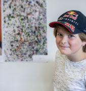 Children's art competition winner Leo Wiles, aged 10