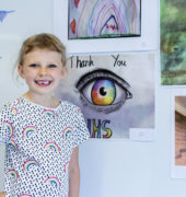 Children's art competition winner Emily Curran, aged 6
