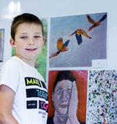 Children's art competition winner Jack Curran, aged 9