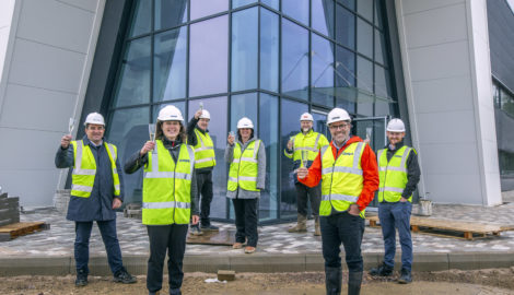 MEPC CEO visits new 258,000 sq ft flagship industrial development at Silverstone Park due to complete within weeks