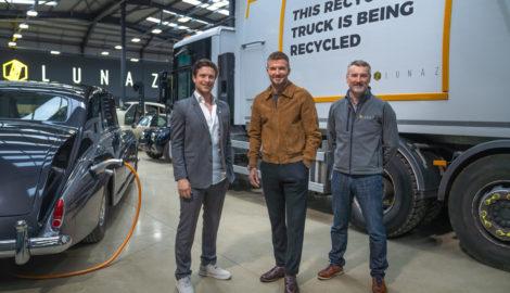 David Beckham invests in vehicle electrification specialist Lunaz at Silverstone Park